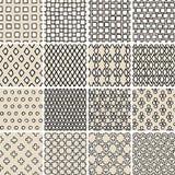 Podstawowego Doodle Bezszwowy wzór Ustawia Żadny 3 w czarny i biały Obraz Stock