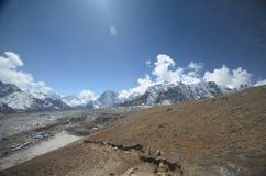 podstawowego obozu Everest wędrówki widok Zdjęcia Royalty Free