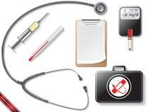 Podstawowi urządzenia medyczne dla lekarki Obraz Royalty Free