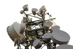 podstawowy błękitny telefon komórkowy nieba staci telekomunikacj wierza Zdjęcia Royalty Free
