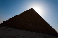 podstawowy cheops Giza khufu ostrosłupa znak Zdjęcie Royalty Free