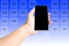 Podstawowy guzik smartphone Zdjęcie Stock
