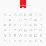 Podstawowy, ogólnoludzki, interfejsie, środku i więcej, Cienieje ikony i wykłada Zdjęcie Stock