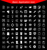 Podstawowy podaniowy ikona set Fotografia Stock