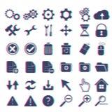 Podstawowy sieci ikony set Obrazy Stock