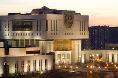 podstawowym biblioteczny Moscow state university Zdjęcie Royalty Free