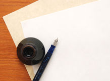 podstawy piszą list writing Fotografia Royalty Free