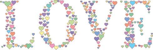 podstawy projekta rysunkowej graficznej ręki ilustracyjny miłości słowo Zdjęcie Royalty Free
