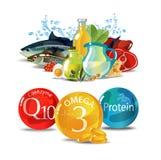 Podstawy zdrowy łasowanie Zdrowy jedzenie codziennie ilustracji