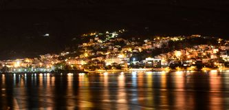 Podstrana τη νύχτα Στοκ φωτογραφία με δικαίωμα ελεύθερης χρήσης