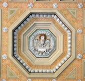 Podsufitowa dekoracja przy bazyliki Papale San Paolo fuori le Mura Obraz Royalty Free