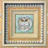 Podsufitowa dekoracja przy bazyliki Papale San Paolo fuori le Mura Obraz Stock