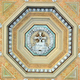 Podsufitowa dekoracja przy bazyliki Papale San Paolo fuori le Mura Zdjęcie Royalty Free