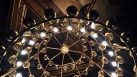 Podsufitowa lampa, rocznika breloczek w historycznym budynku Fotografia Royalty Free