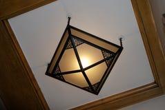 Podsufitowa lampa w szkle i metalu, art deco styl zdjęcie royalty free