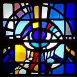 podsufitowej szklanej barwna mozaiki oznaczony przez okno Zdjęcia Royalty Free