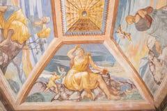 Podsufitowi obrazy kaplica szpital de Santiago, Ube fotografia royalty free