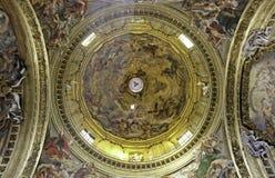 podsufitowy bazyliki gesu il Rome Zdjęcie Stock