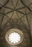 podsufitowy klasztoru Portugal okno Fotografia Stock