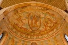 Podsufitowy projekt, bazylika Aquileia, Włochy zdjęcia royalty free