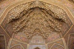 Podsufitowy szczegół, Shiraz, Iran fotografia royalty free