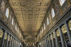 podsufitowy złoty maggiore Maria Rome Santa Obrazy Royalty Free