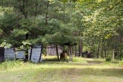 Podsumowanie kabina w pustkowiu fotografia royalty free