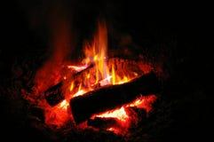 podszytowa ogniska spopielania noc Fotografia Royalty Free