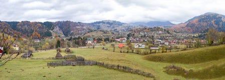 Podul Dambovicioarei village - panorama Royalty Free Stock Images