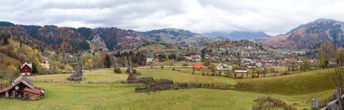 Podul Dambovicioarei village - panorama II Stock Photo