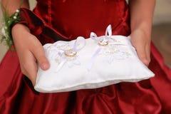 poduszka dzwoni ślub Zdjęcie Royalty Free