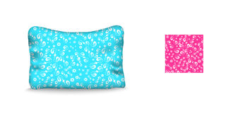 Poduszka i bezszwowy wzór na błękitnym tle Zdjęcia Stock