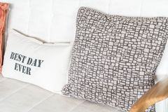 Poduszka na kanapie fotografia stock