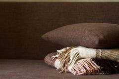 Poduszki Wyściełają szkocką kratę Zdjęcia Stock
