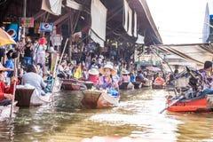 poduszkowce damnoen saduak rynku Thailand Zdjęcie Stock
