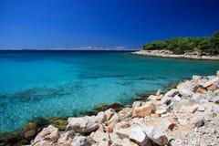 Podvrške beach in Murter Royalty Free Stock Image