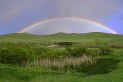 podwójna rainbow Obrazy Royalty Free