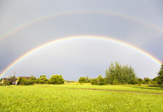 podwójna rainbow Zdjęcia Stock