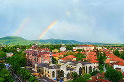 podwójna rainbow Obrazy Stock