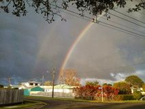podwójna rainbow fotografia stock