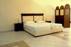 podwójne łóżko Zdjęcia Stock