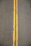 podwójne żółte Zdjęcie Royalty Free