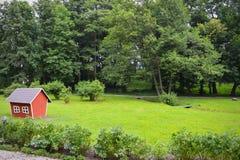 Podwórków dzieci lasowy dom Obraz Royalty Free