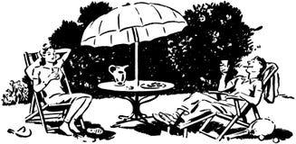 Podwórka Lounging royalty ilustracja