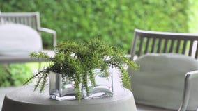Podwórka ogródu stół zdjęcie wideo