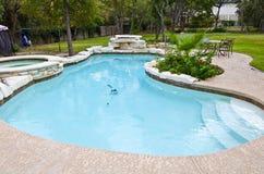 podwórza basenu dopłynięcie Obraz Royalty Free