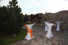podwórza ogrodowy patia brukarza staw Podwórka brukarza patio Kształtuje teren przegląd Zdjęcia Royalty Free