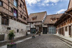 podwórze średniowieczny fotografia royalty free