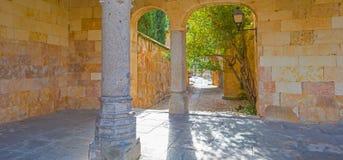 Podwórze średniowieczny pałac w Salamanca Obrazy Stock