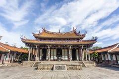 Podwórze świątynia Confucius w Taipei, Tajwan fotografia stock